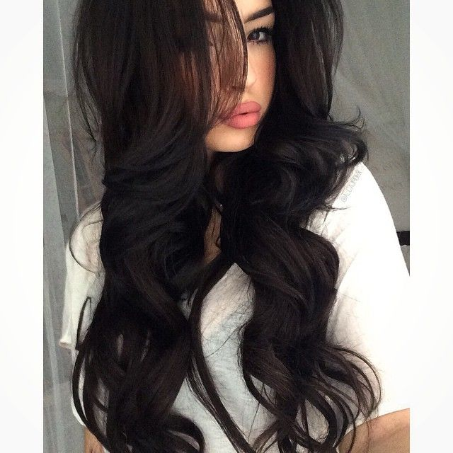25 Best Ideas About Long Dark Hair On Pinterest Long Brown Hair