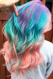 cute multi colored hairstyles