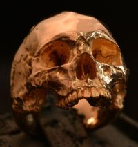 Into The Fire Jewelry - 18 kt. rose gold Skull ring Mid ...