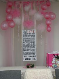 Pinterest inspired bridal shower decorations...above the ...