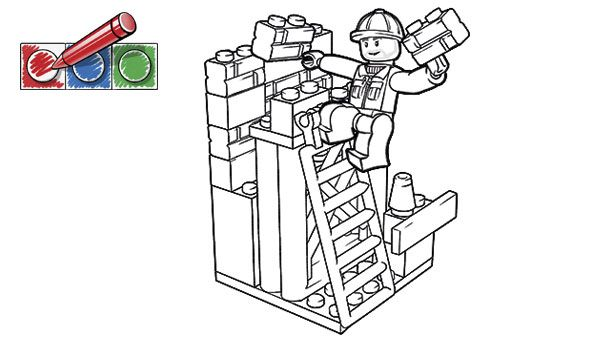 lego construction coloring pages Gallery
