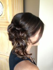 prom hair curls updo side swept