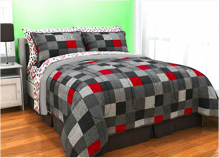 Red Black White Twin Comforter