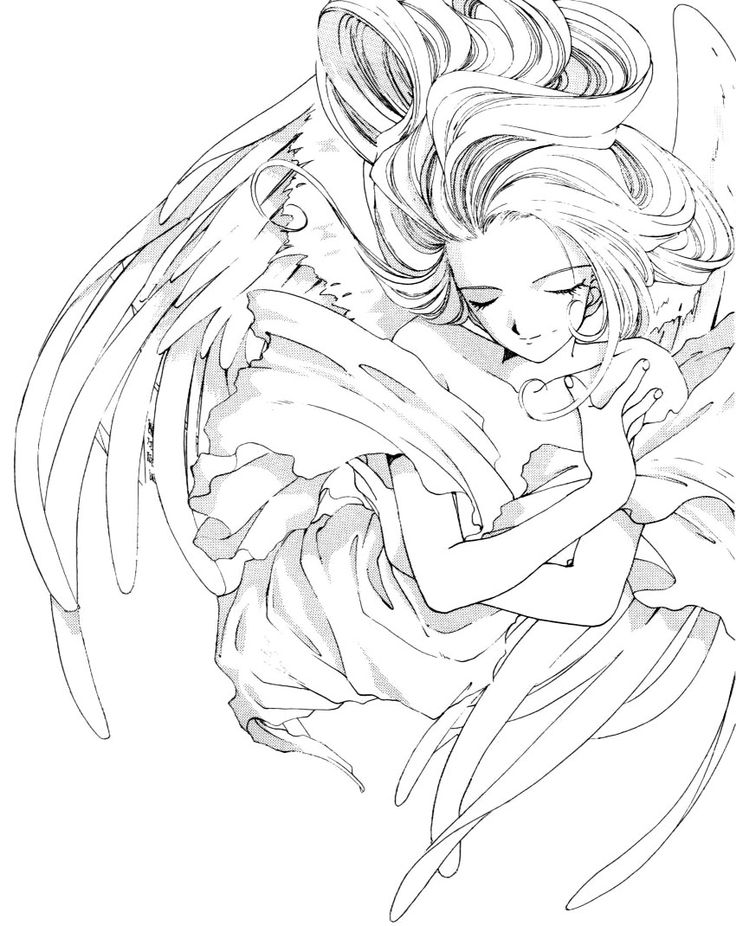 anime goddess coloring coloring pages