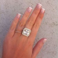 Short french -Wedding manicure - #nails | Nails ...