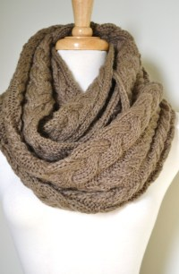 cable-knit infinity scarf in taupe | Yikes! | Pinterest ...