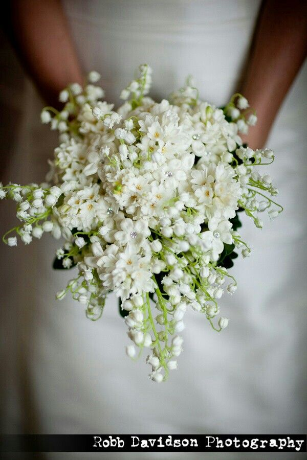 Perfect  Petite TeardropShield Bouquet Of Lily Of The