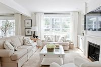 Lux Decor: Bright living room with light linen colored ...
