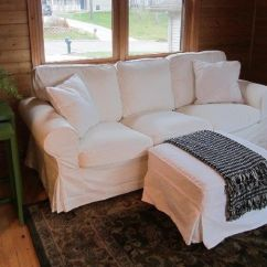 Pottery Barn Sofa Covers Replacement Sectional Bed With Storage Chase White Twill Slipcover Made For Pb Basic ...