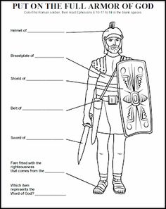 LESSON: THE ARMOR OF GOD Teach children how to put on the