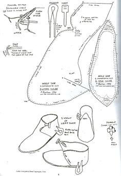 Shoe timeline (from: Leather and Leatherworking in Anglo
