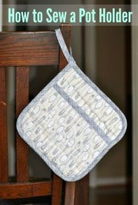 Sewing Potholders/Oven Mitts/Kitchen Towels on Pinterest ...