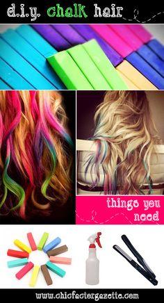 i have purple hair chalk that the girls can borrow how to chalk your hair tutorial hair