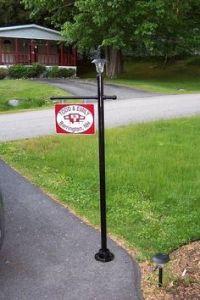 lamp post flag holder