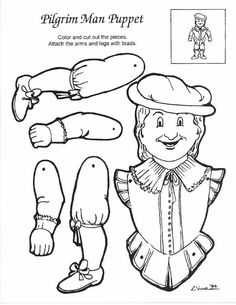 Indian Maiden Puppet Part Coloring Page Sky Sketch