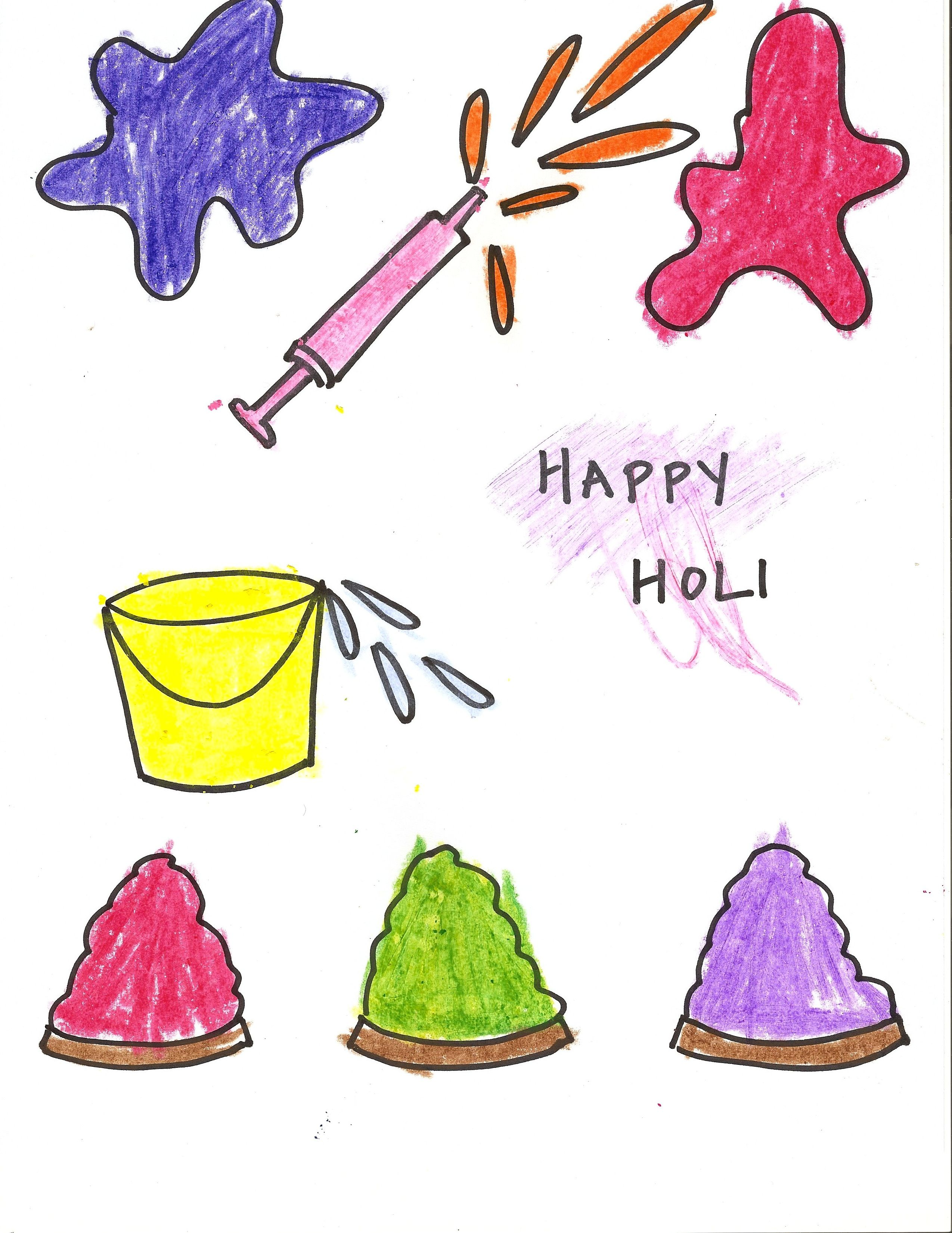 Holi Coloring Page Download