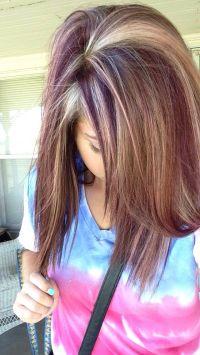Reddish purple and blonde highlights | Hair | Pinterest ...