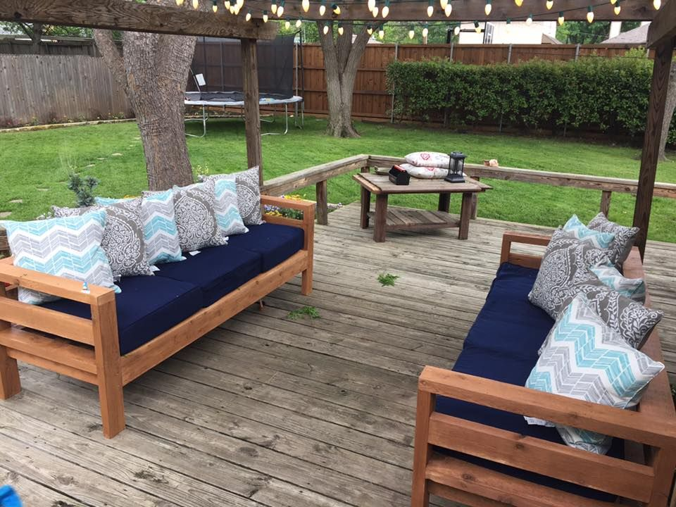 ana white outdoor x sofas diy projects