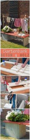 Inspirierend Gartenbank Aus Beton Und Holz Schema