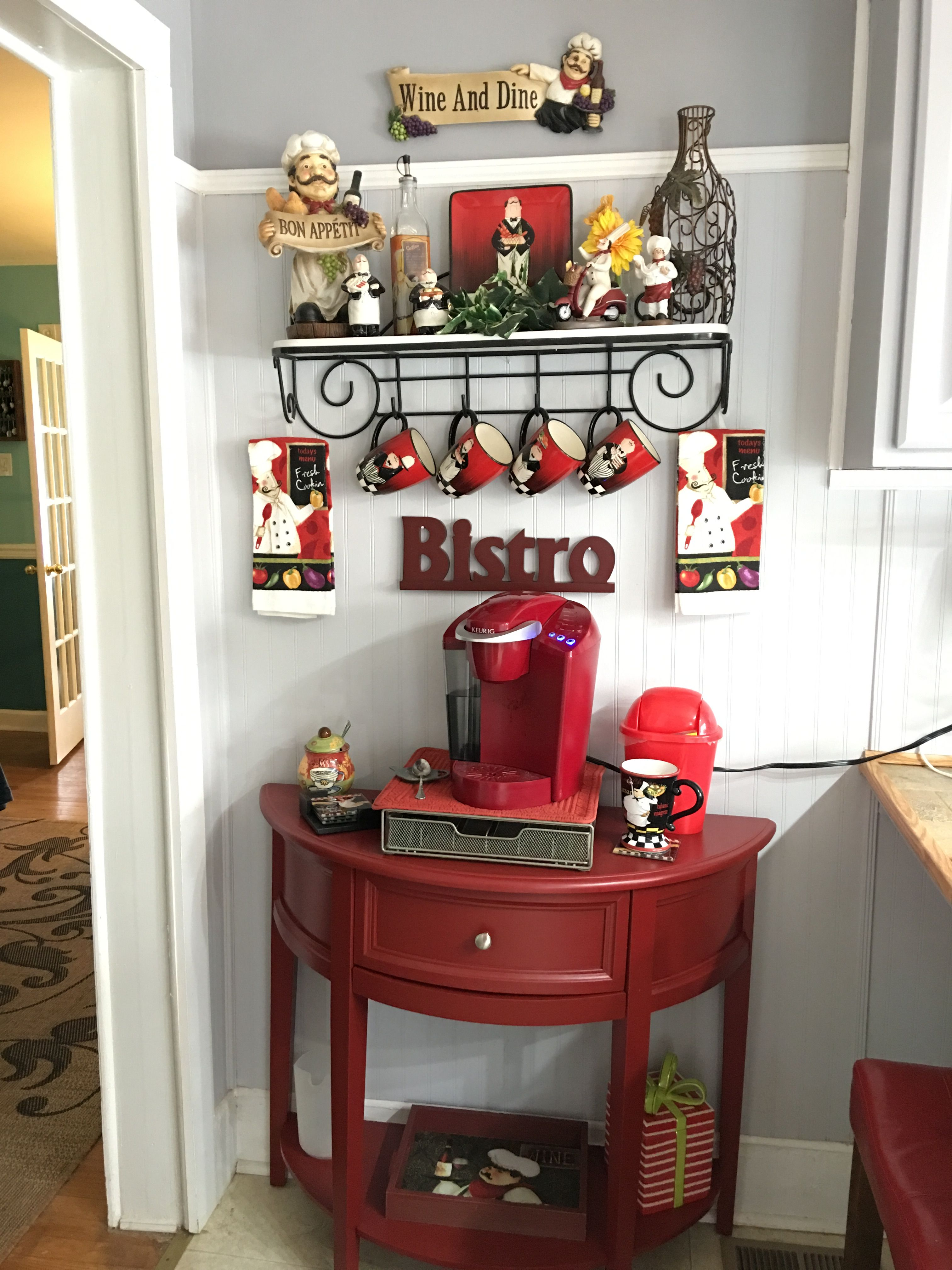 coffee decoration for kitchen how much does a new cost chef bistro decor fat chefs my pinterest
