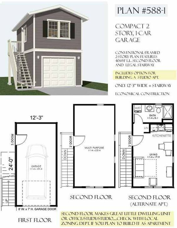 Garage Apartment Floor Plans Do Yourself awesome 2 story garage plans with apartments contemporary - home