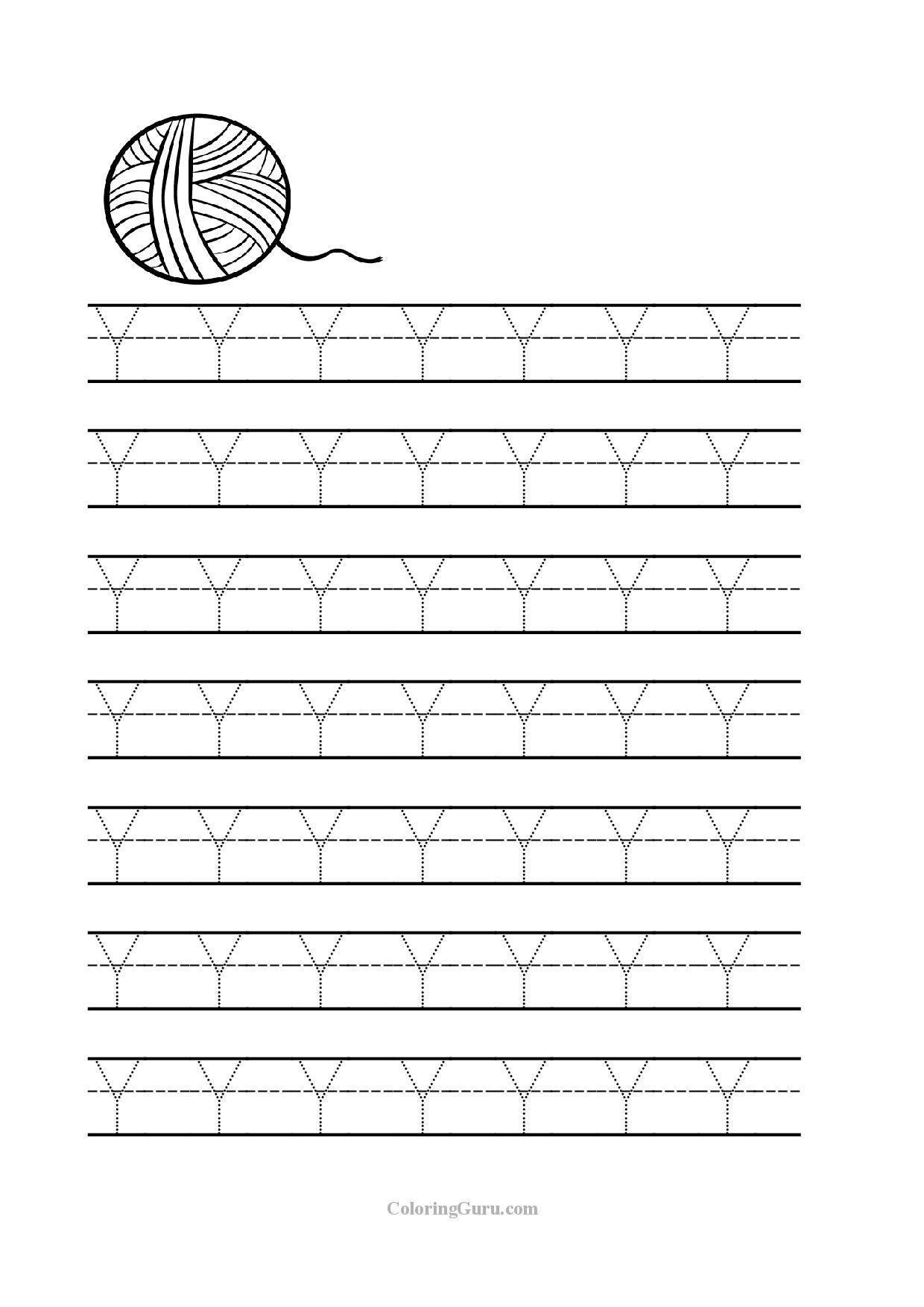 Free Printable Tracing Letter Y Worksheets For Preschool Preschool