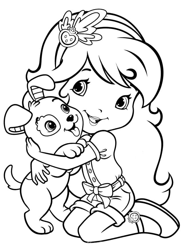 Strawberry Shortcake Coloring Pages Games 2