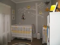 All ready for our Little One - Grey and Yellow Nursery ...