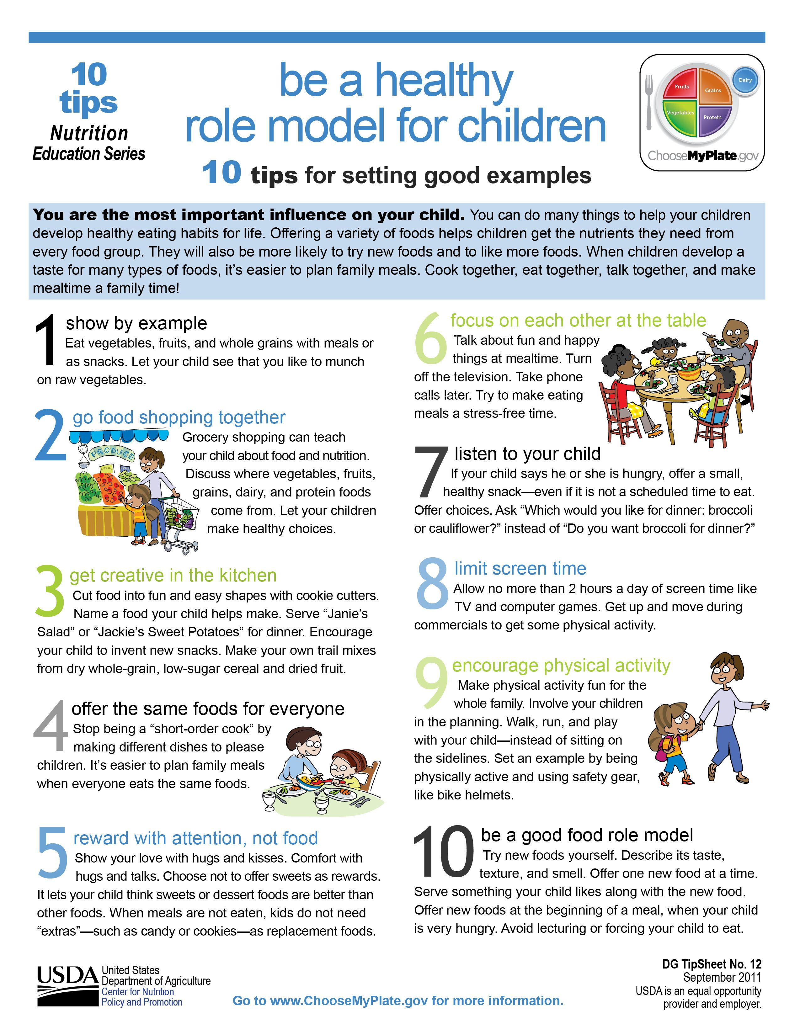 10 Ways You Can Be A Healthy Role Model For Children