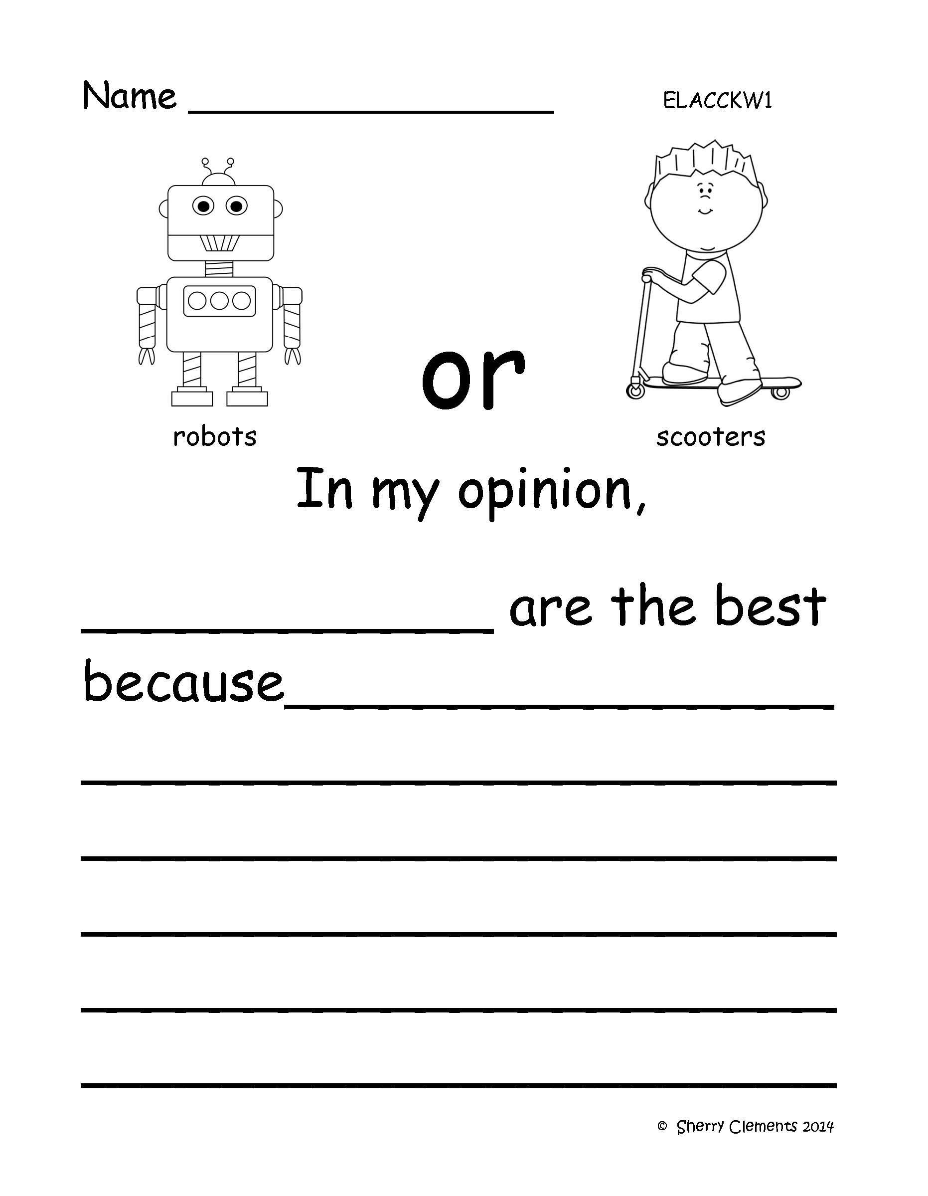 Opinion Writing Favorite Toys