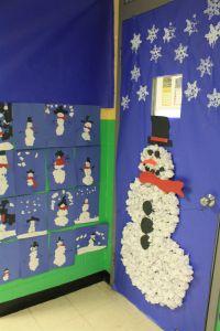 Crumpled Paper Snowman   Christmas Door Decorations ...