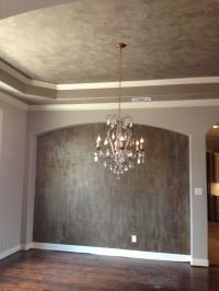 Modern Masters metallic plasters on ceiling and accent ...