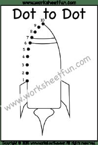 Dot to Dot – Rocket – Numbers 1-10