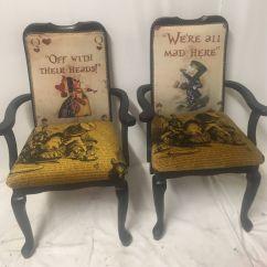 Alice In Wonderland Chair Silver Crushed Velvet Bedroom Dining Room Black High Backed