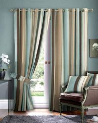 Beautiful Blue And Brown Curtains