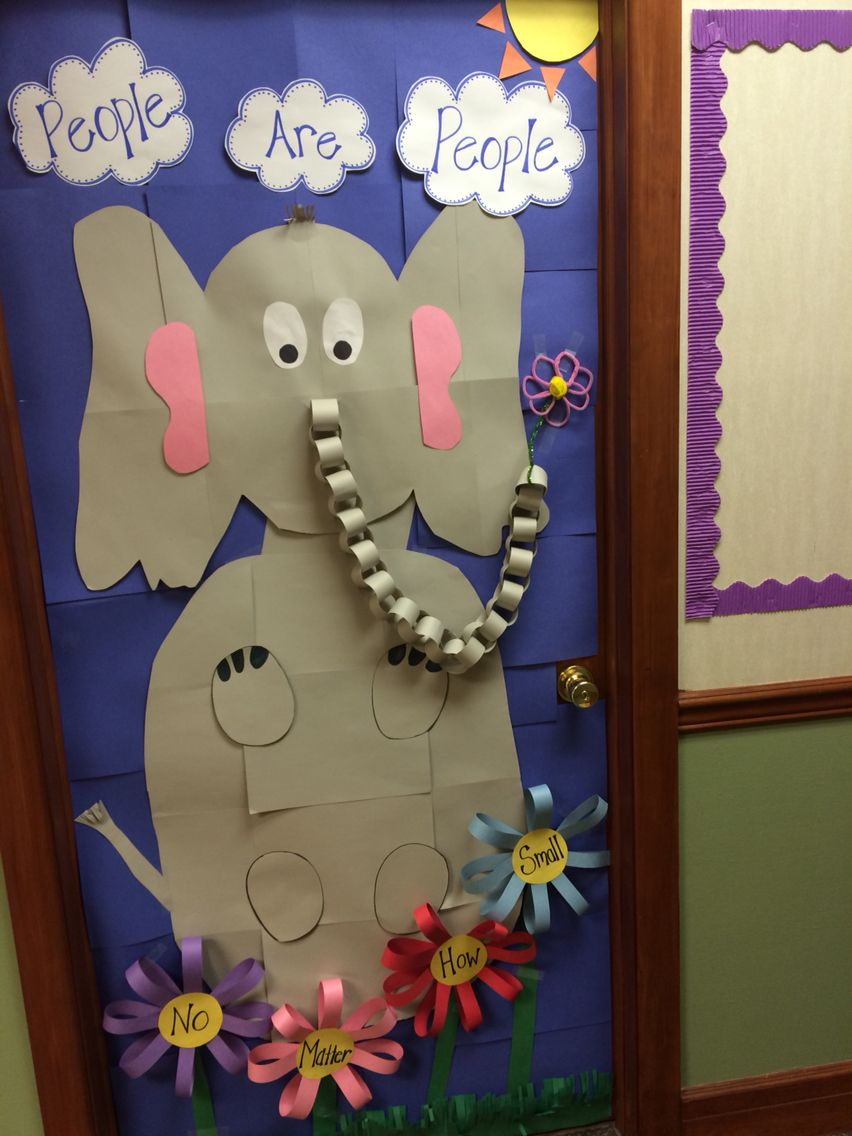 Horton hears a who door decoration for dr. Seuss week at