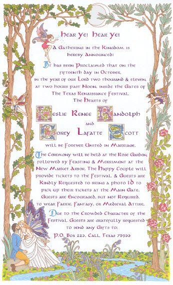Wiccan Wedding Invitations