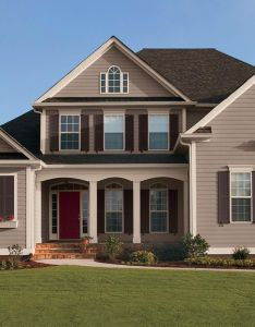 Nice exterior paint color ideas with red brick also colors rh za pinterest