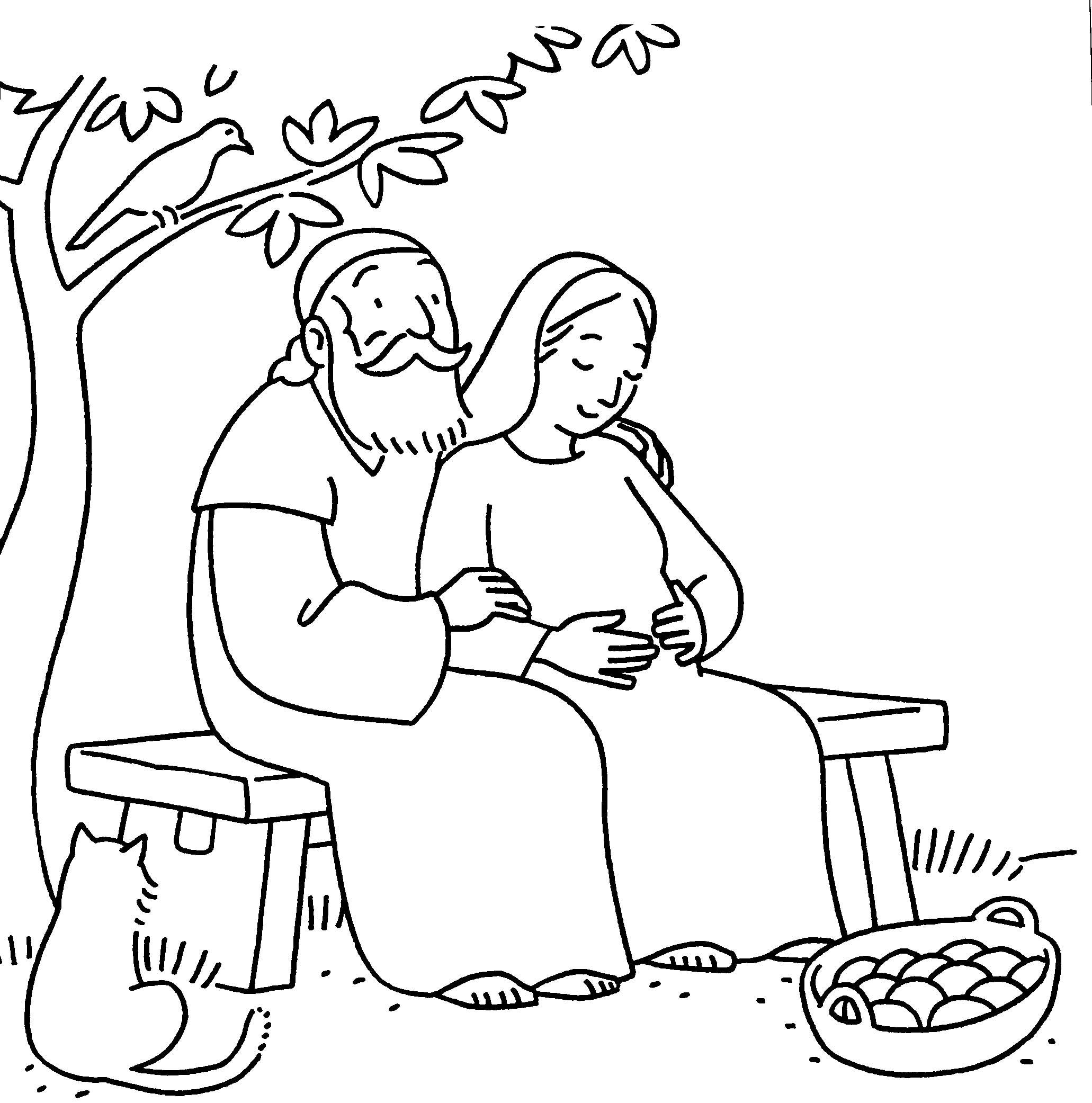 Elizabeth and Zechariah. God's Promises by Sarah Michael
