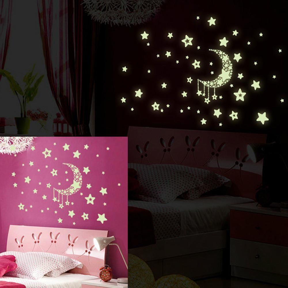 Hot sale new design stars removable night glow in the dark luminous wall sticker home decor also rh pinterest
