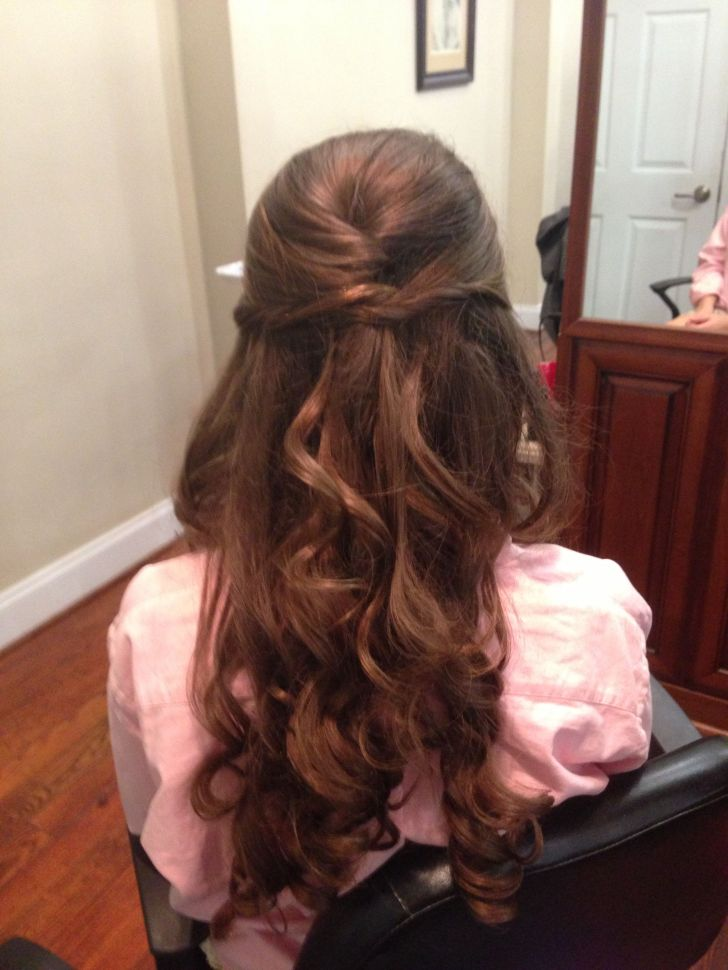 Long Hairstyle: Hairstyle For Prom. Half Up Down Prom Hair Brushing Widescreen Hairstyle For Prom Pc High Quality