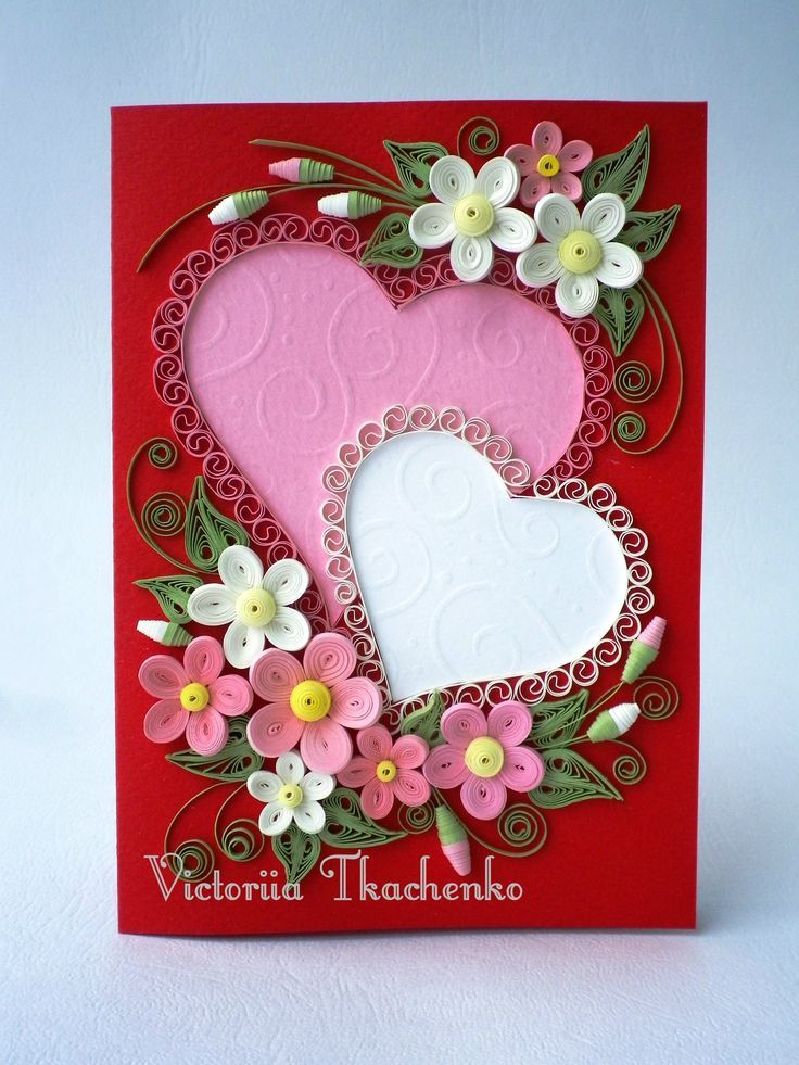 Hearts Quilled Design Frame Love Quilling Pinterest