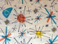 Atomic 50's Design Fabric ~ we had a formica table like ...