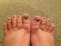 Monsters Inc inspired toenails