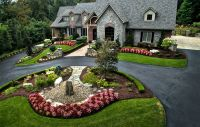 Large estate landscape design and build. Long tree-lined ...