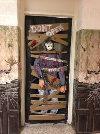 Classroom Halloween Door decorating contest. Zombies