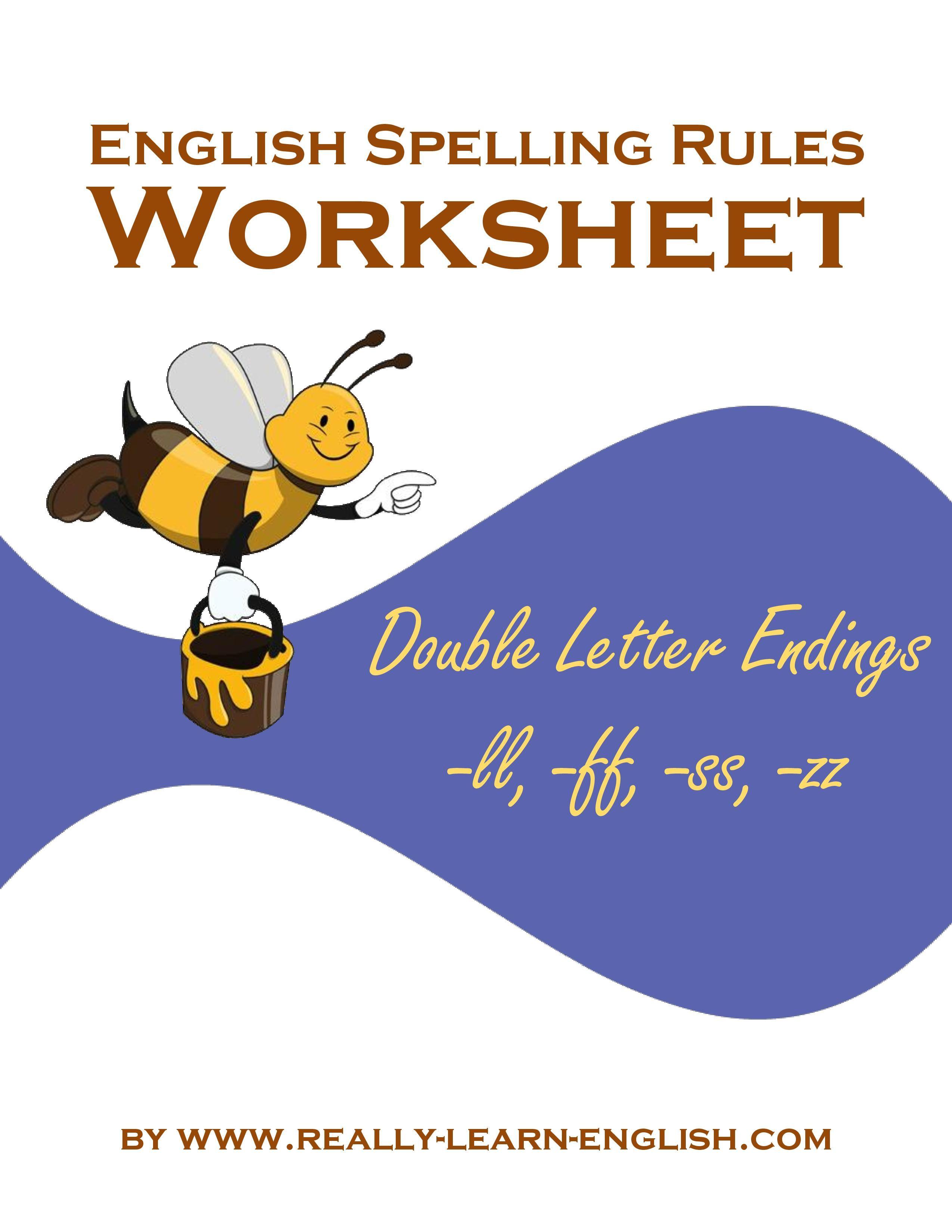 English Spelling Rules Printable Worksheets Rule 12