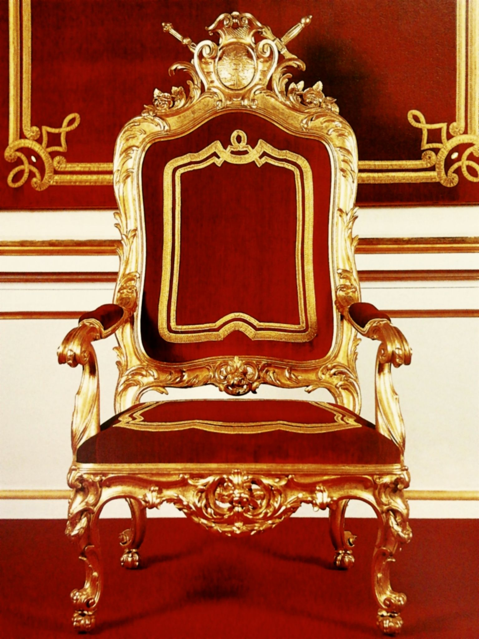 King Chairs Stanislas August Of Poland Throne Chair 1764 Royal