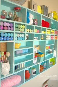 DIY Craft Cubby Wall | Craft, Walls and Room