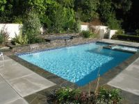 awesome pool design with blue tile floor ideas for ...